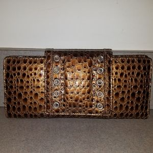 Kenneth Cole Reaction Faux Croc Wristlet Clutch